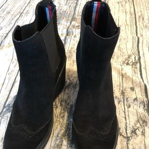c4b35d543a9 Tommy Hilfiger Shoes - Tommy Hilfiger Sirina Wedge Booties